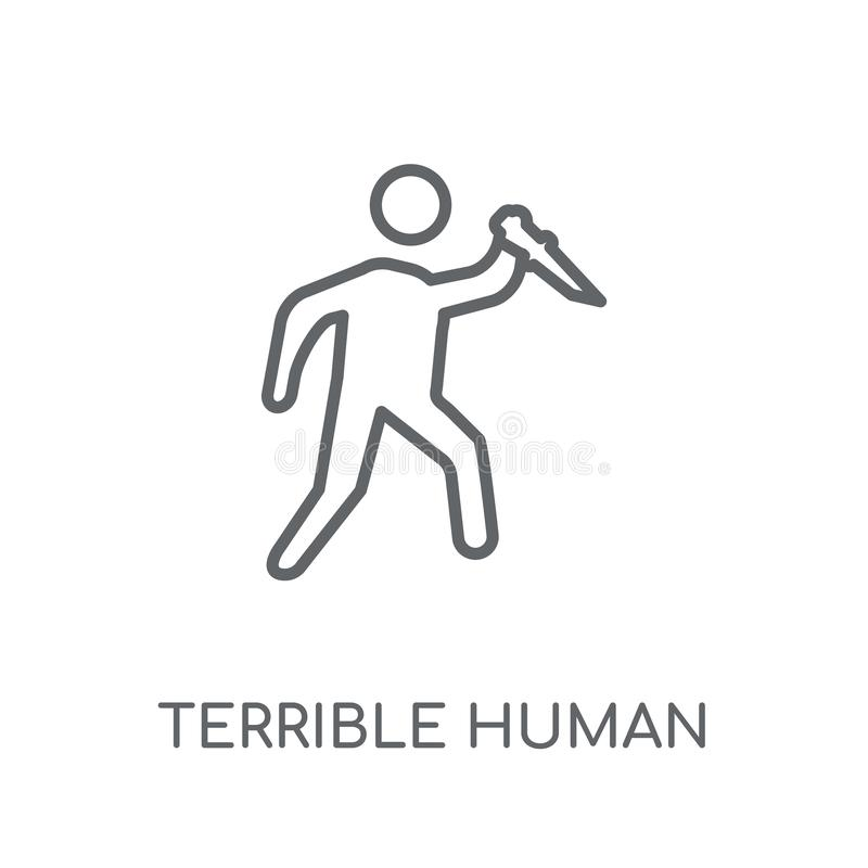 icona lineare umana terribile Logo umano terribile c del profilo moderno illustrazione vettoriale