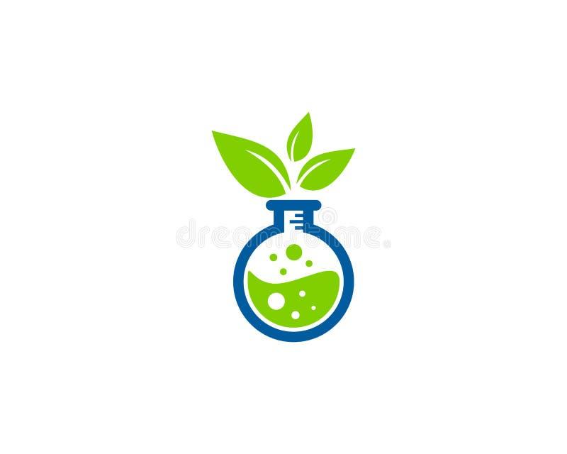 Icona Logo Design Element del laboratorio di scienza di Eco della natura illustrazione vettoriale