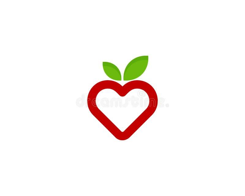 Icona Logo Design Element della frutta di amore royalty illustrazione gratis