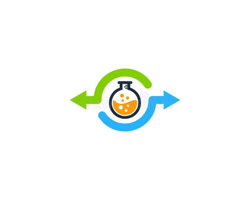 Icona Logo Design Element della parte del laboratorio royalty illustrazione gratis