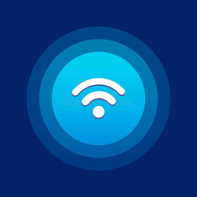 Icona/logo di Wifi Progettazione di UI illustrazione di stock