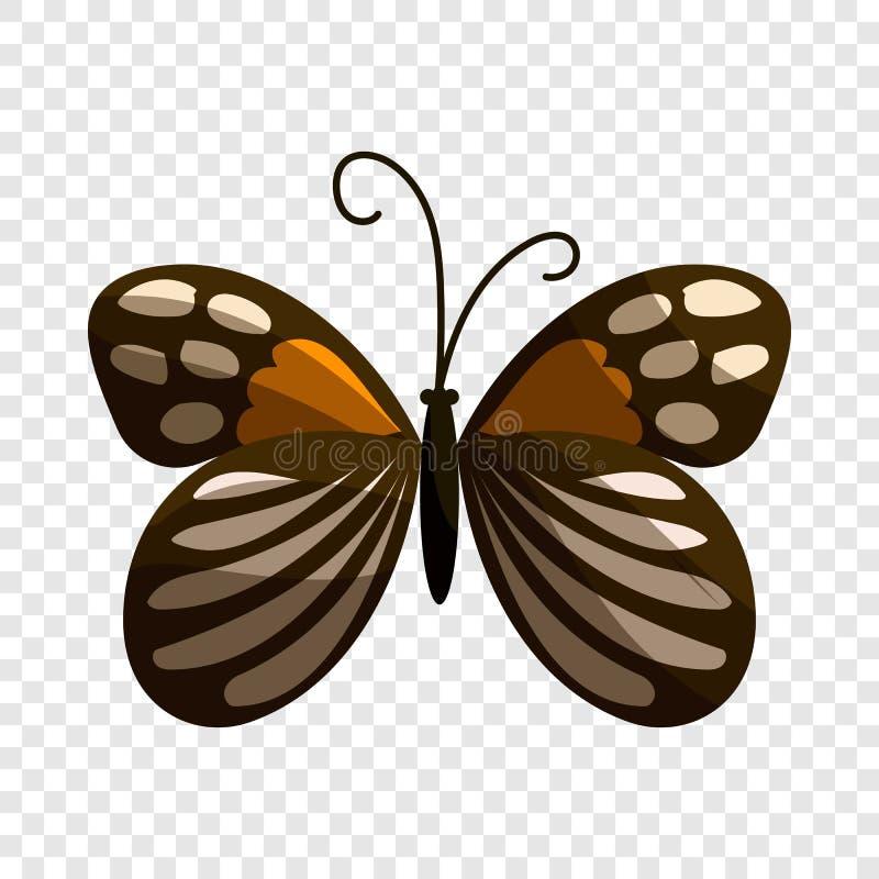 Icona macchiata della farfalla, stile del fumetto illustrazione di stock