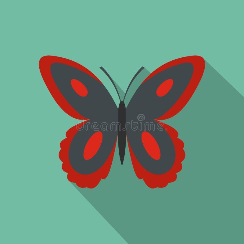 Icona macchiata della farfalla, stile piano illustrazione di stock