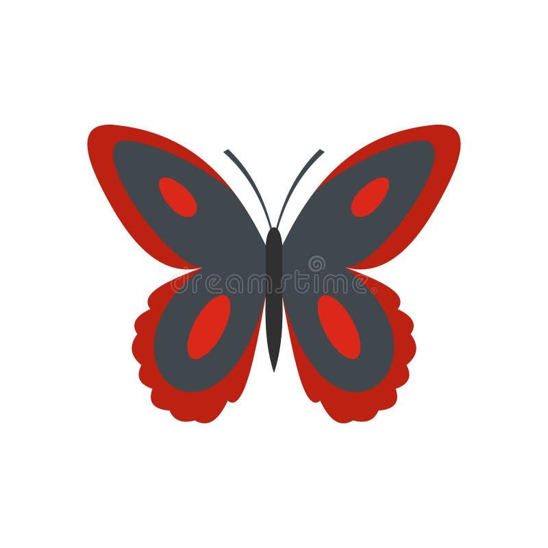 Icona macchiata della farfalla, stile piano illustrazione vettoriale