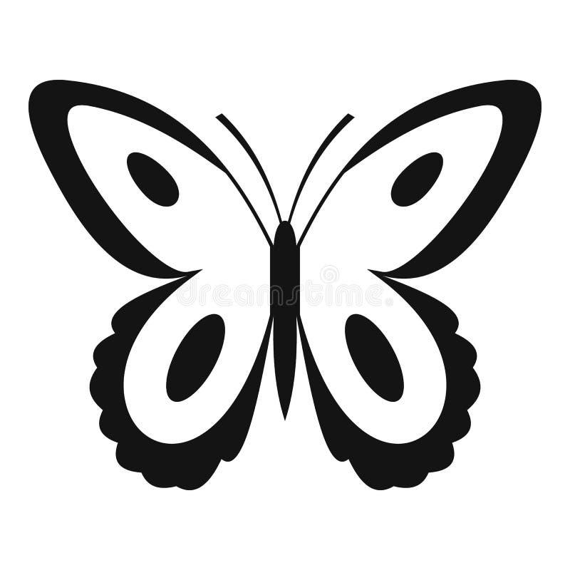 Icona macchiata della farfalla, stile semplice royalty illustrazione gratis