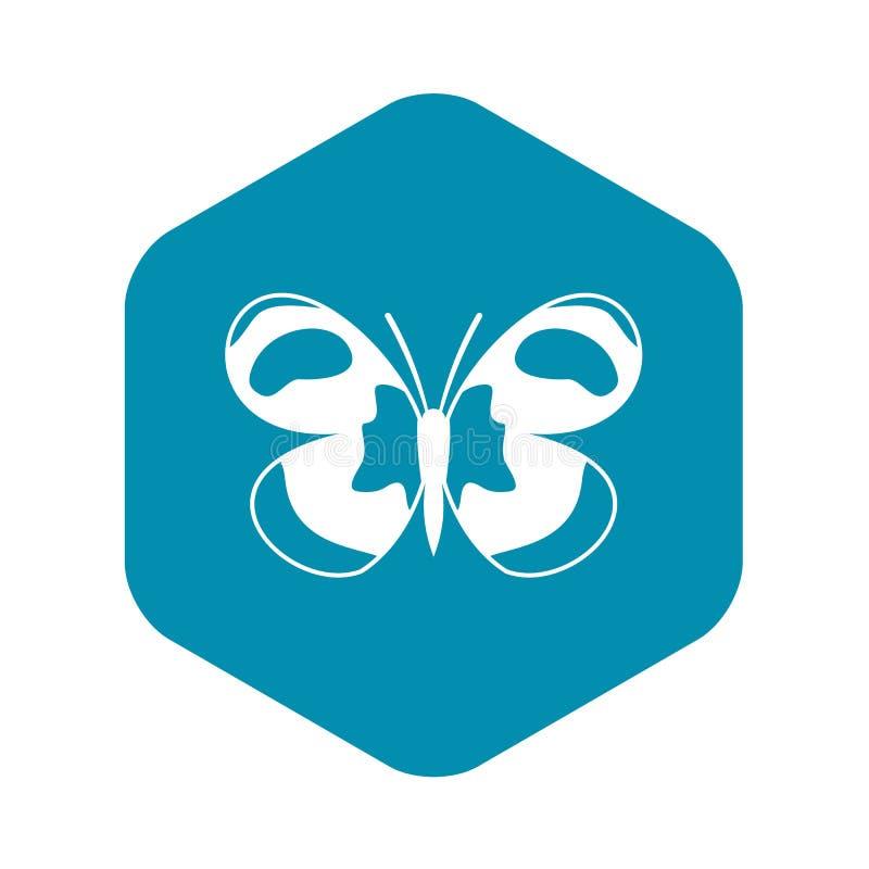 Icona macchiata della farfalla, stile semplice illustrazione di stock