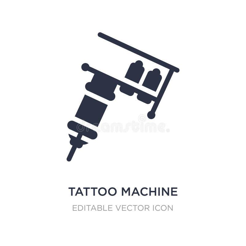 Icona a macchina del tatuaggio su fondo bianco Illustrazione semplice dell'elemento dall'altro concetto illustrazione vettoriale