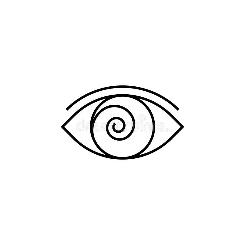 Icona magica del profilo di ipnosi I segni ed i simboli possono essere usati per il web, logo, app mobile, UI, UX illustrazione di stock