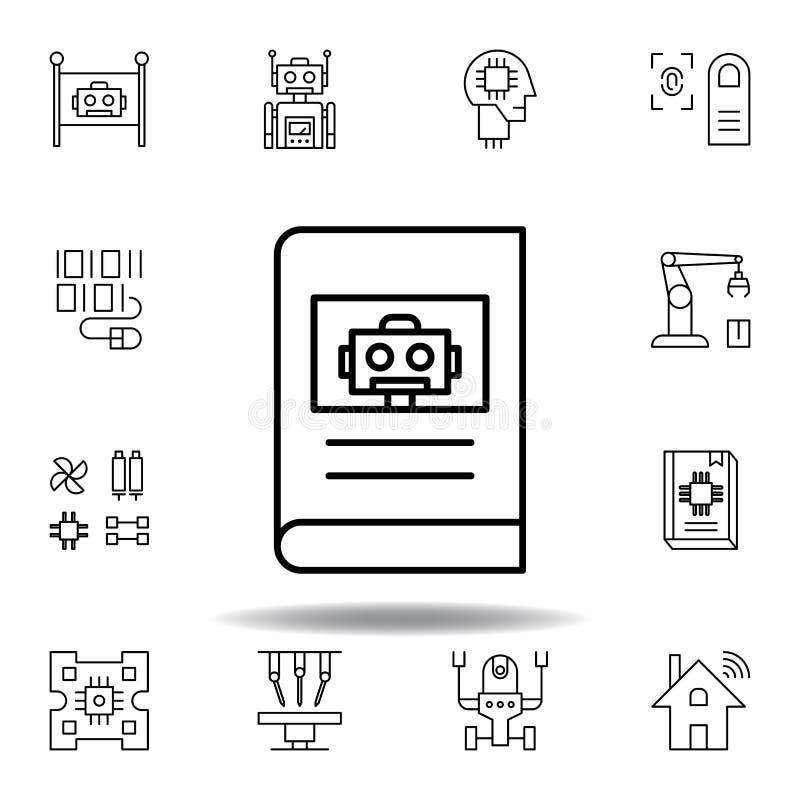 Icona manuale del profilo di robotica metta delle icone dell'illustrazione di robotica i segni, simboli possono essere usati per  illustrazione vettoriale