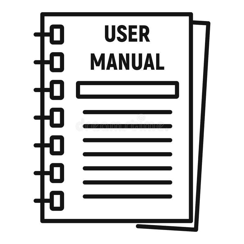 Icona manuale dell'utente, stile del profilo royalty illustrazione gratis