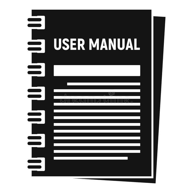 Icona manuale dell'utente, stile semplice illustrazione di stock