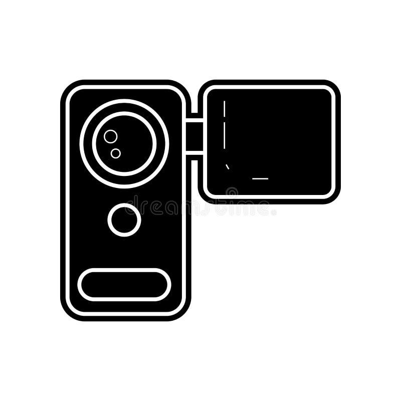 icona manuale della videocamera Elemento dello strumento di media per il concetto e l'icona mobili dei apps di web Glifo, icona p royalty illustrazione gratis