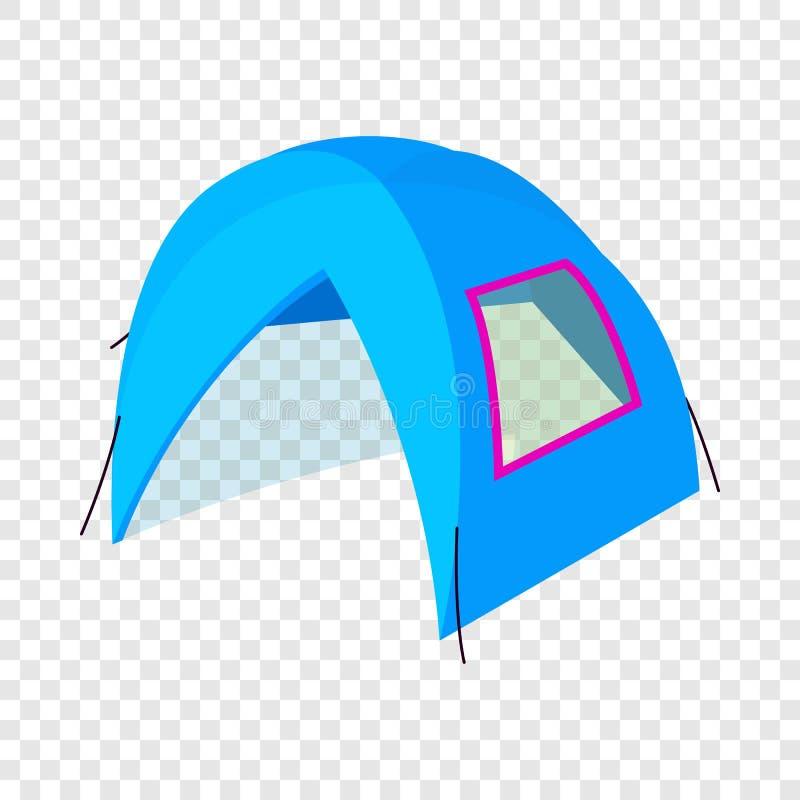Icona in marcia della tenda, stile isometrico 3d royalty illustrazione gratis