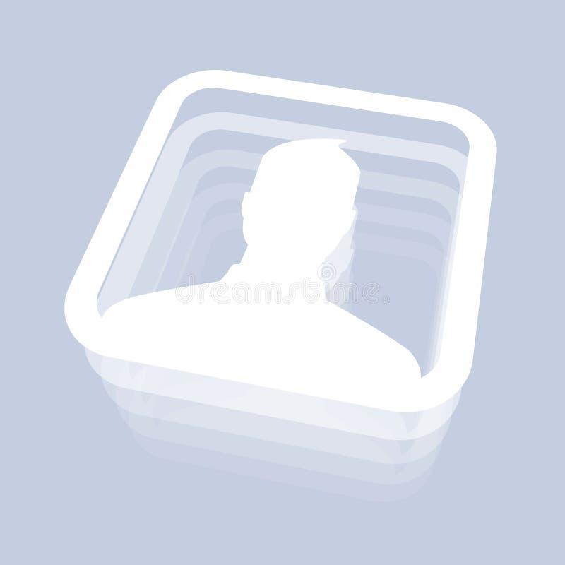 Icona maschio dell'utente illustrazione vettoriale