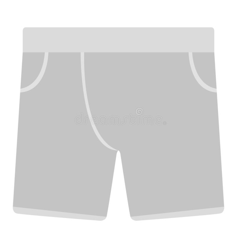 Icona maschio isolata della biancheria intima illustrazione di stock