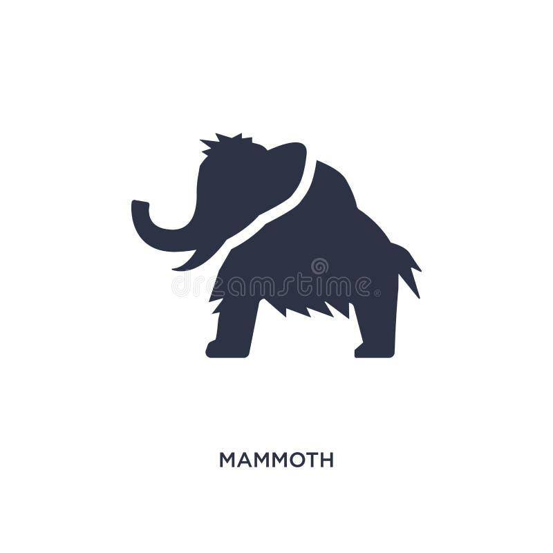 icona mastodontica su fondo bianco Illustrazione semplice dell'elemento dal concetto di età della pietra illustrazione di stock