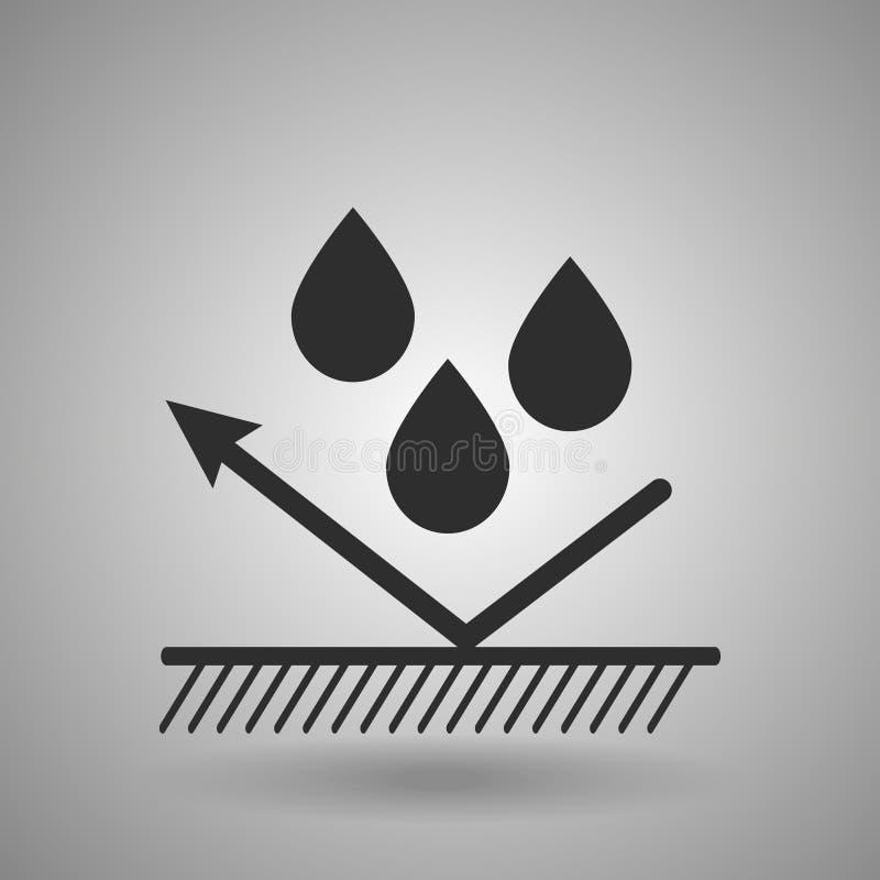 Icona materiale idrofoba Goccioline e segno della freccia illustrazione vettoriale