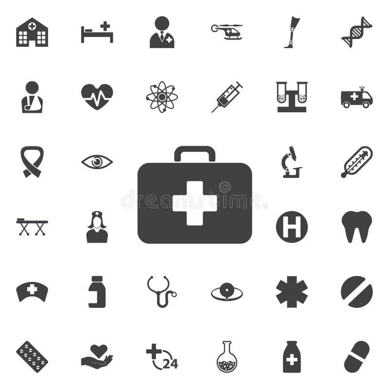 Icona medica della borsa - vettore illustrazione di stock