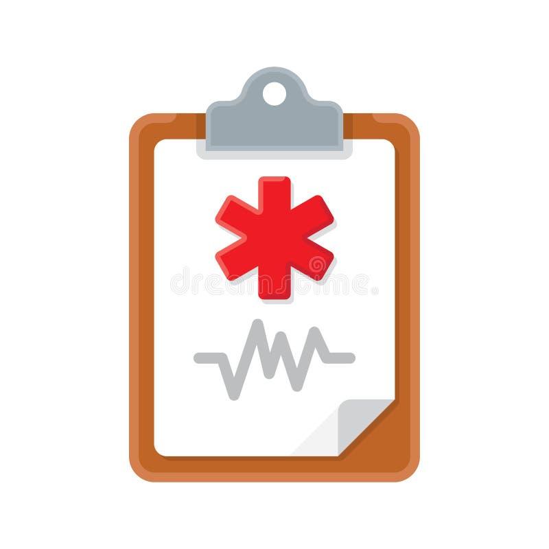 Icona medica della lavagna per appunti royalty illustrazione gratis