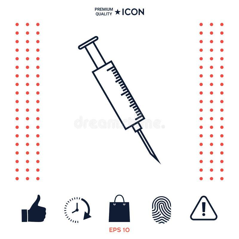 Download Icona medica della siringa illustrazione vettoriale. Illustrazione di simbolo - 117975936