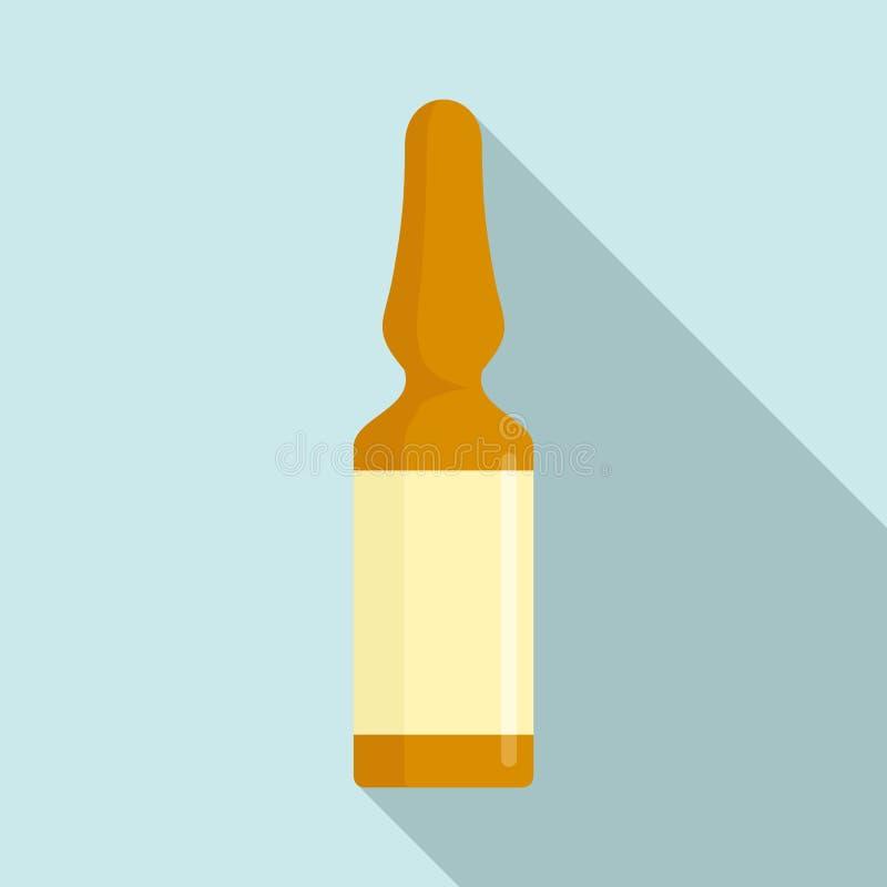 Icona medica di ampolla, stile piano royalty illustrazione gratis