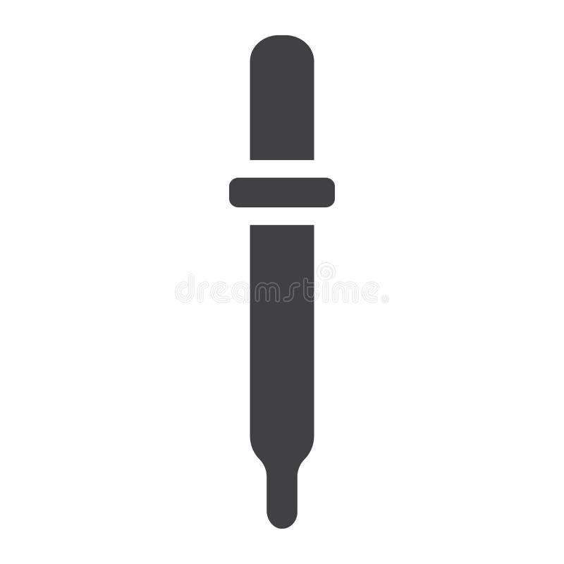 Icona, medicina e sanità di glifo della pipetta illustrazione di stock