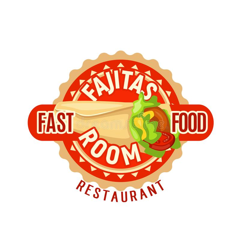 Icona messicana di vettore del fast food delle fajite illustrazione di stock