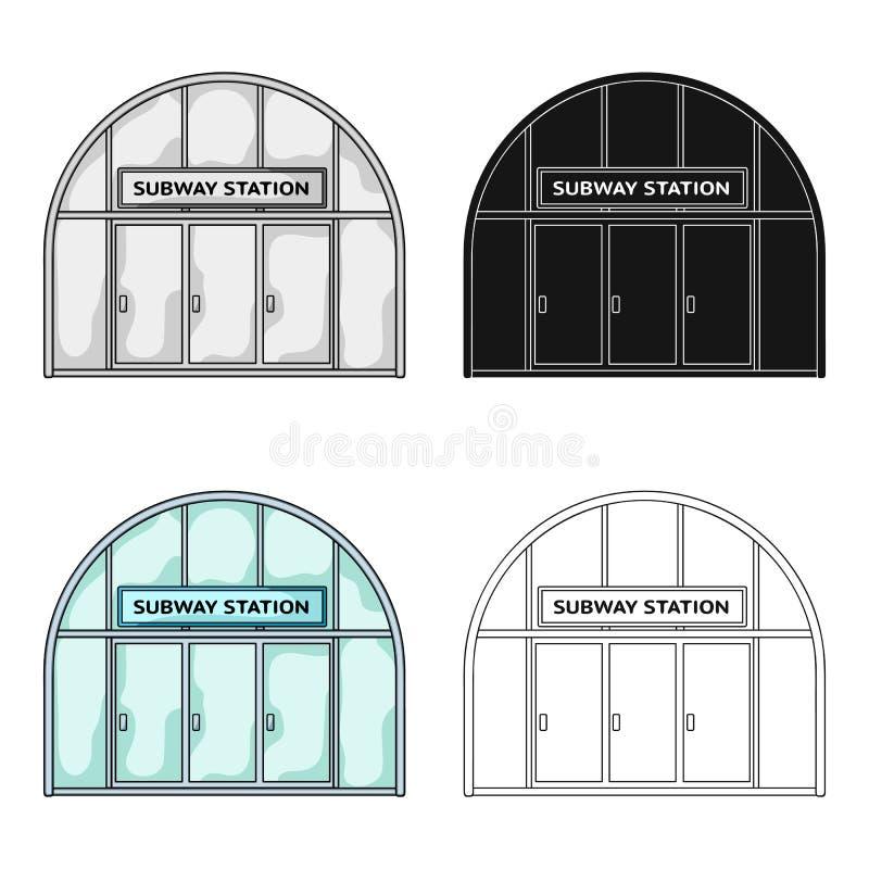 Icona metropolitana e singola nello stile del fumetto Web metropolitano dell'illustrazione delle azione di simbolo di vettore illustrazione vettoriale