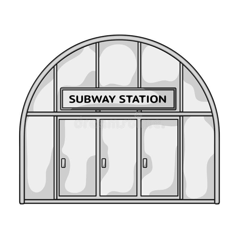 Icona metropolitana e singola nello stile monocromatico Web metropolitano dell'illustrazione delle azione di simbolo di vettore illustrazione vettoriale