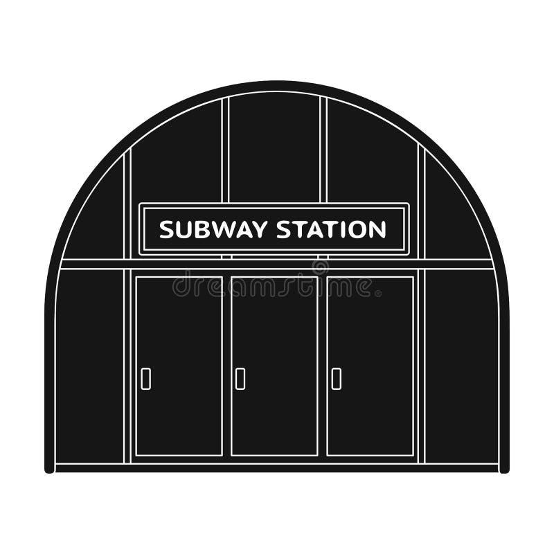 Icona metropolitana e singola nello stile nero Web metropolitano dell'illustrazione delle azione di simbolo di vettore royalty illustrazione gratis