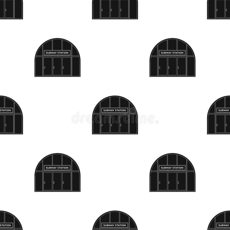 Icona metropolitana e singola nello stile nero Web metropolitano dell'illustrazione delle azione di simbolo di vettore illustrazione vettoriale
