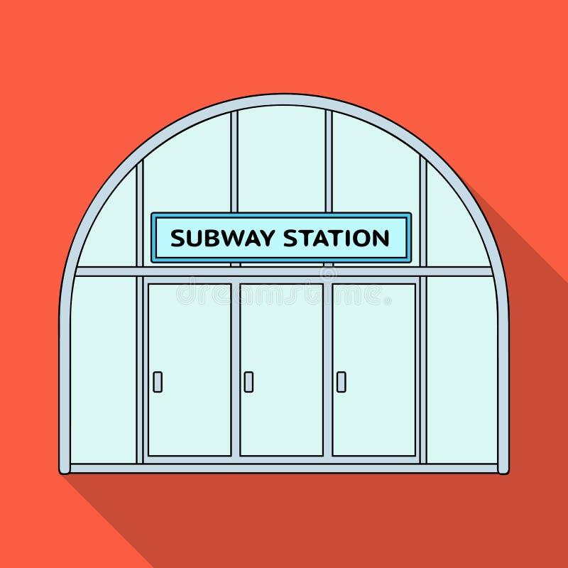 Icona metropolitana e singola nello stile piano Web metropolitano dell'illustrazione delle azione di simbolo di vettore illustrazione vettoriale
