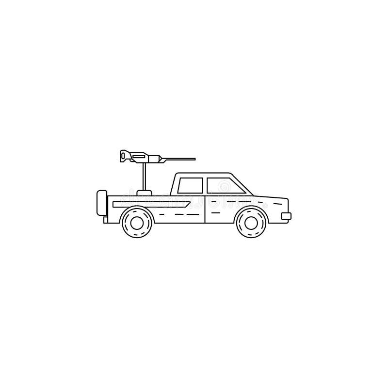 icona militare della raccolta Elemento dell'icona militare per i apps mobili di web e di concetto Linea sottile icona per progett illustrazione di stock