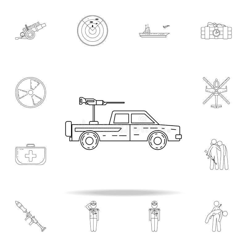icona militare della raccolta Insieme universale delle icone dell'esercito per il web ed il cellulare illustrazione vettoriale