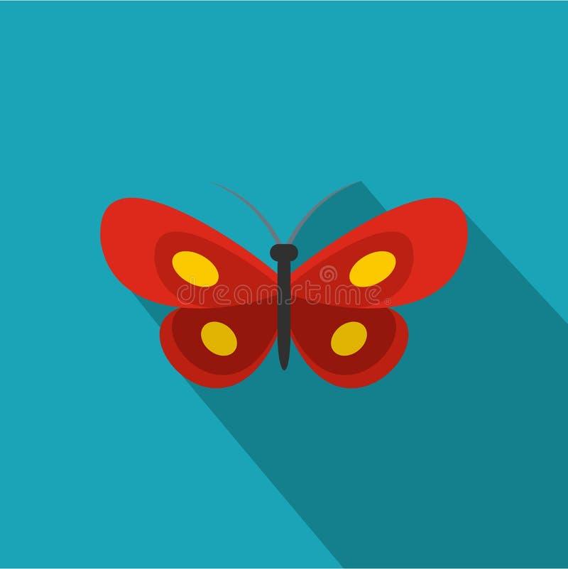 Icona minuscola della farfalla, stile piano royalty illustrazione gratis