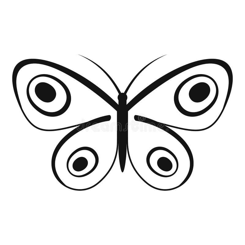 Icona minuscola della farfalla, stile semplice royalty illustrazione gratis