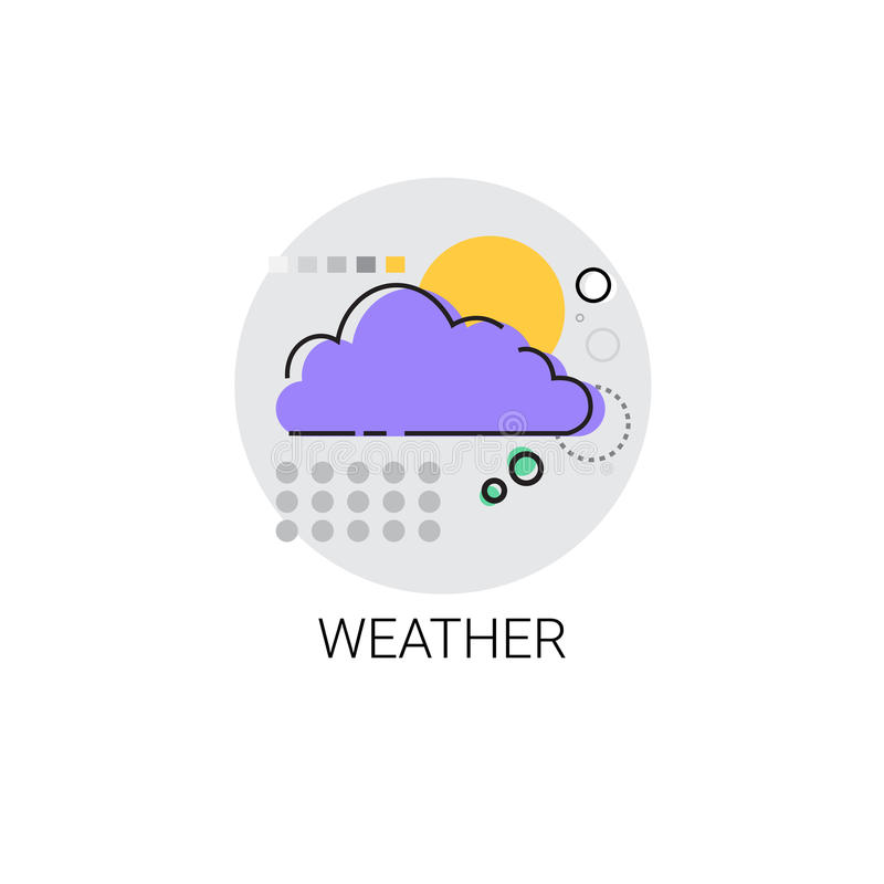 Icona mobile dell'interfaccia di applicazione del tempo illustrazione di stock
