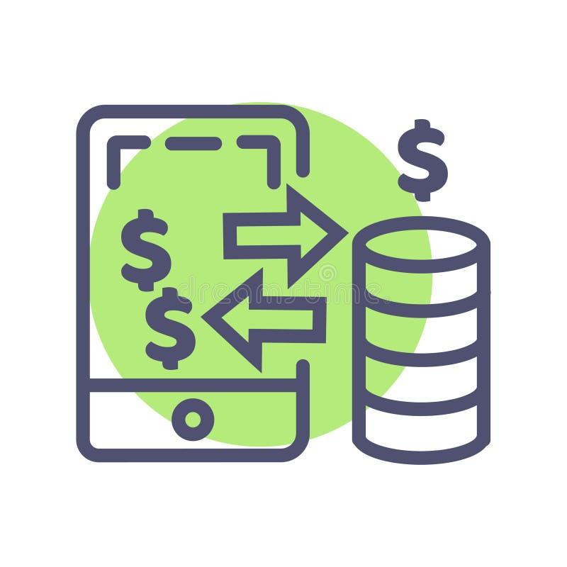Icona mobile di pagamento icona perfetta del pixel di vettore mobile di pagamento per il sito Web o i apps mobili illustrazione di stock