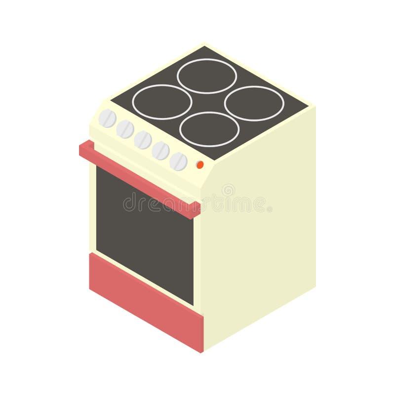 Icona moderna del fornello elettrico, stile del fumetto royalty illustrazione gratis