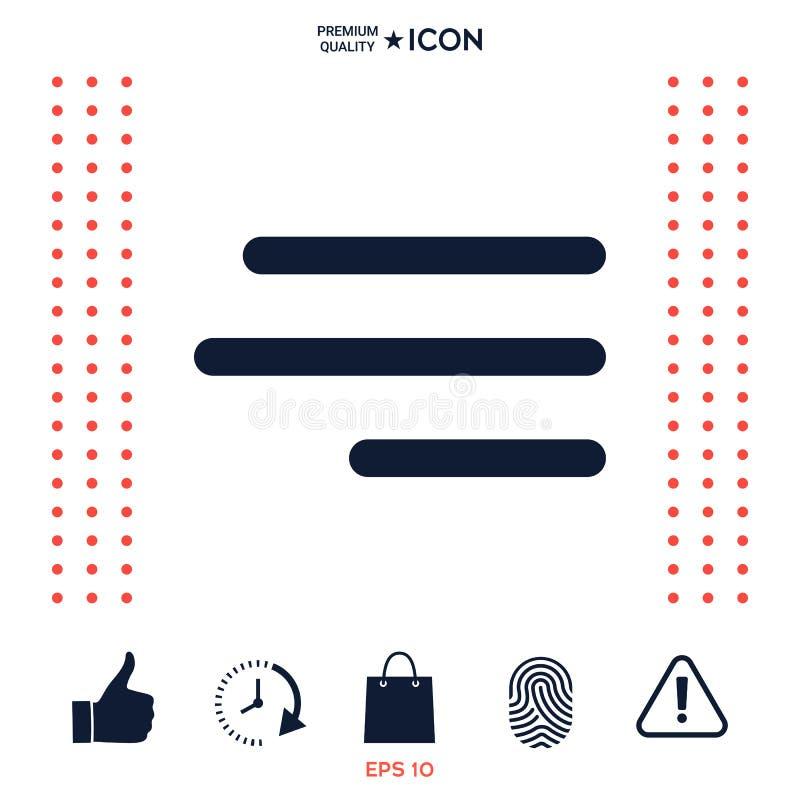 Download Icona Moderna Del Menu Dell'hamburger Per I Apps Ed I Siti Web Mobili Illustrazione Vettoriale - Illustrazione di segno, internet: 117975970