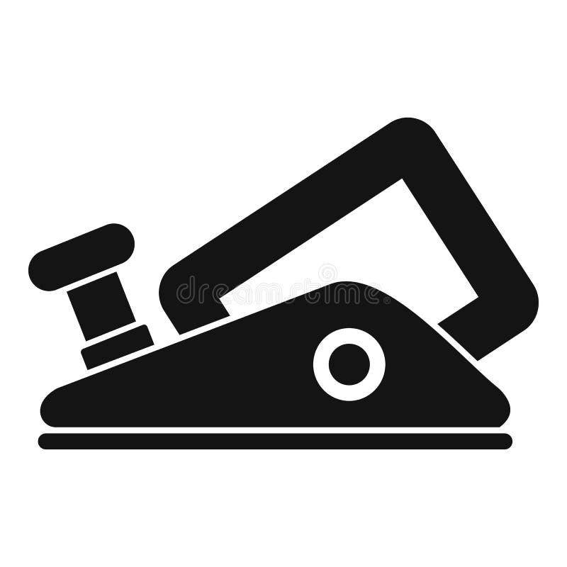 Icona moderna della pialla per sgrossare, stile semplice royalty illustrazione gratis