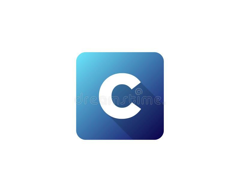 Icona moderna Logo Design Element della lettera dell'ombra di gradazione royalty illustrazione gratis