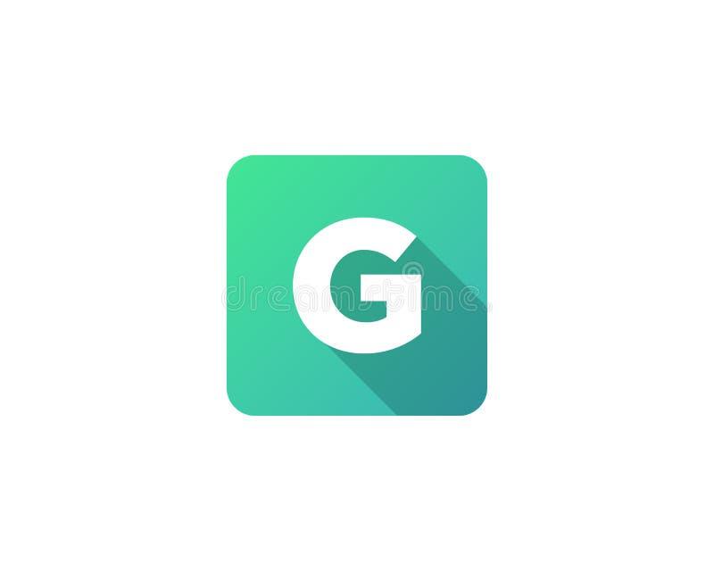Icona moderna Logo Design Element della lettera dell'ombra di gradazione illustrazione di stock