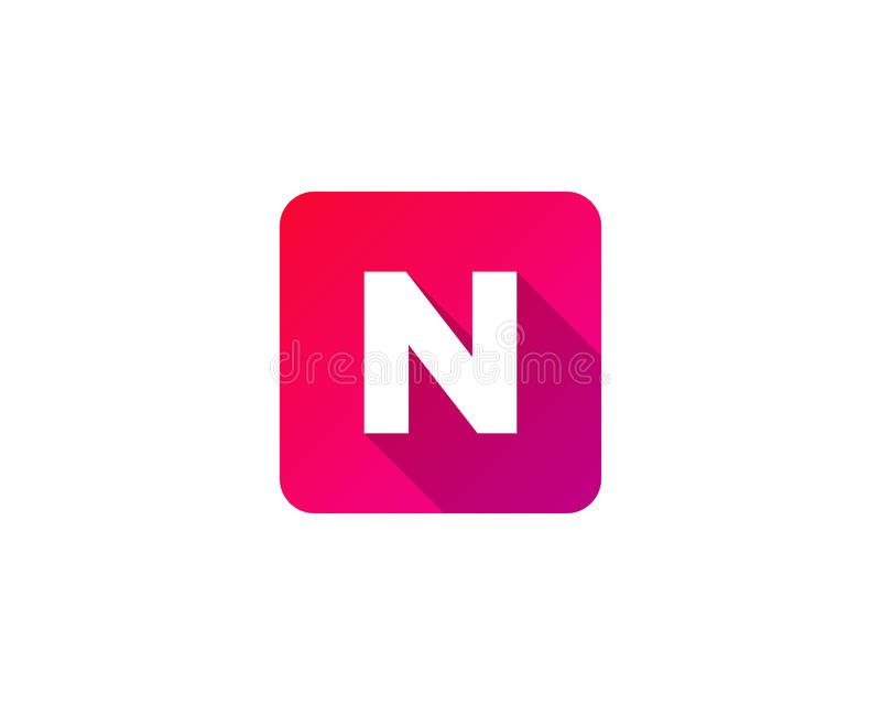 Icona moderna Logo Design Element della lettera dell'ombra di gradazione illustrazione vettoriale
