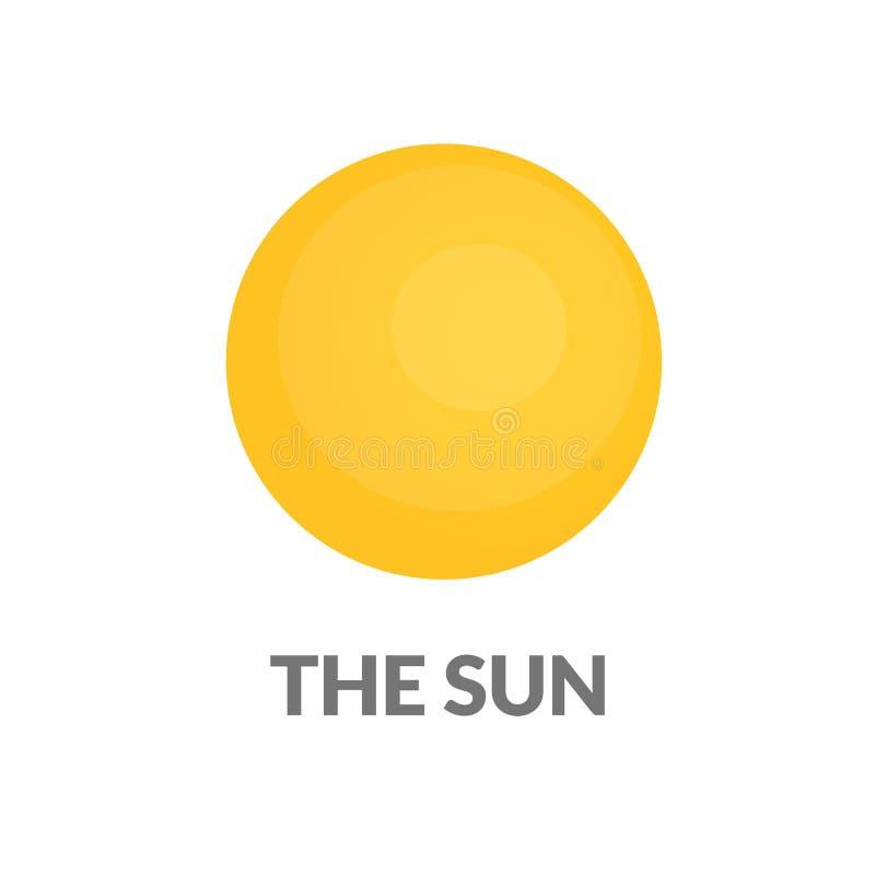 Icona molto semplice del sole royalty illustrazione gratis
