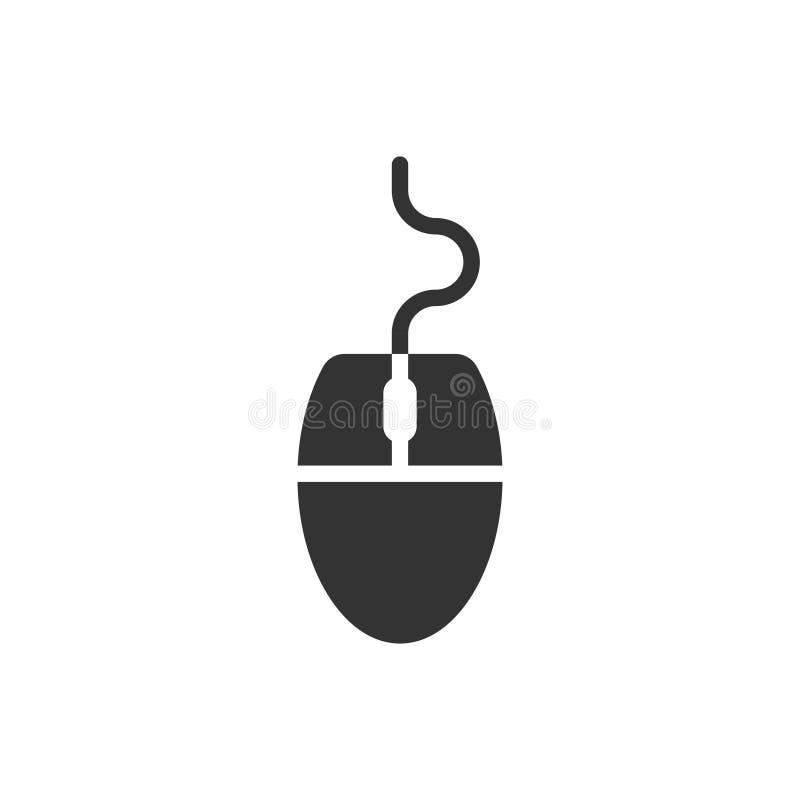Icona mouse computer in stile piatto Illustrazione del vettore del cursore su fondo bianco isolato Concetto di business dei punta illustrazione di stock