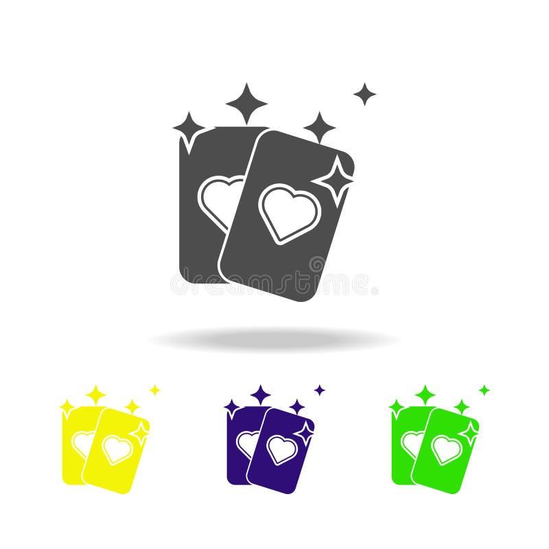 icona multicolore della carta di predizione Elemento dell'icona magica popolare I segni e l'icona di simboli possono essere usati royalty illustrazione gratis