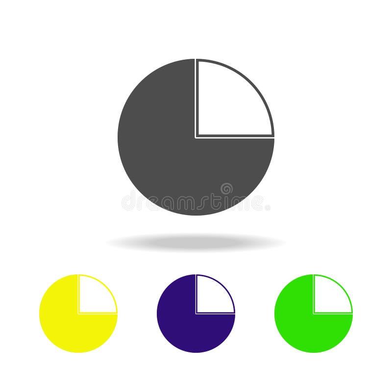 icona multicolore della torta finanziaria Elemento delle icone di web Segni ed icona per i siti Web, web design, app mobile di si royalty illustrazione gratis