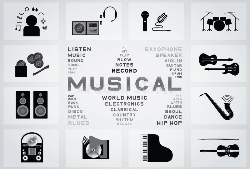 Icona musicale illustrazione di stock
