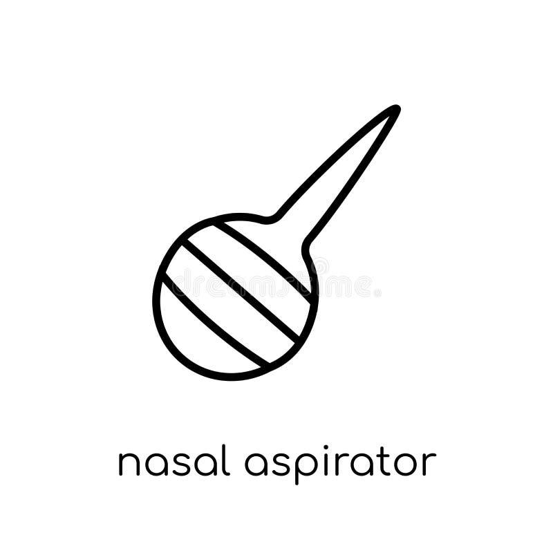 Icona nasale dell'aspiratore dalla raccolta di igiene illustrazione vettoriale